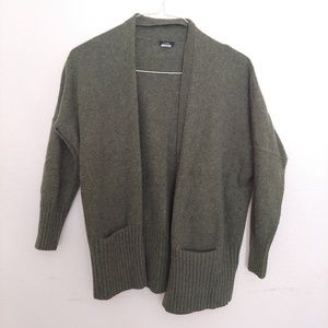J Crew Green Boyfriend Sweater Cardigan